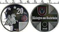 Изображение Монеты Швейцария 20 франков 2018 Посеребрение Proof