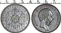 Изображение Монеты Германия Саксония 5 марок 1895 Серебро XF