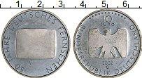 Изображение Монеты Германия 10 евро 2002 Серебро Proof- 50 лет немецкому тел
