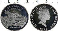 Изображение Монеты Острова Кука 2 доллара 1996 Серебро Proof Национальный парк Ол