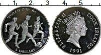 Изображение Монеты Острова Кука 5 долларов 1991 Серебро Proof Чемпионат мира по фу