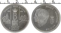 Изображение Монеты Бельгия 250 франков 1996 Серебро UNC- Престолонаследие