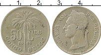 Изображение Монеты Бельгийское Конго 50 сантим 1925 Медно-никель VF Альберт