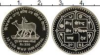 Изображение Монеты Непал 250 рупий 1986 Серебро Proof- 25 - летие  WWF
