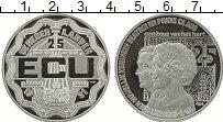 Изображение Монеты Нидерланды 25 экю 1991 Серебро Proof- 25 лет Свадьбы Корол