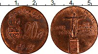 Изображение Монеты Редонда 20 центов 2012 Бронза XF