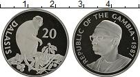 Продать Монеты Гамбия 20 даласи 1987 Серебро