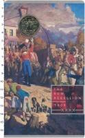 Изображение Подарочные монеты Австралия 1 доллар 2019 Латунь UNC Ромовый мятеж 1808 г