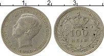 Изображение Монеты Португалия 100 рейс 1910 Серебро VF Мануэл II