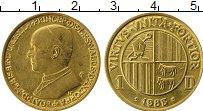 Изображение Монеты Андорра 1 динер 1983 Латунь UNC- Князь Жоан