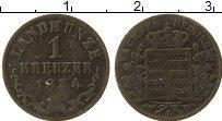 Изображение Монеты Саксе-Мейнинген 1 крейцер 1834 Серебро XF