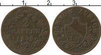 Изображение Монеты Цюрих 2 раппа 1842 Медь XF