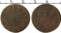 Продать Монеты Росток 3 пфеннига 1735 Медь