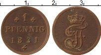 Изображение Монеты Мекленбург-Шверин 1 пфенниг 1831 Медь XF