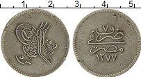 Изображение Монеты Египет 5 кирш 1864 Серебро XF