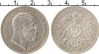 Изображение Монеты Ольденбург 2 марки 1891 Серебро XF Николай Фридрих