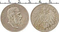 Изображение Монеты Рейсс-Шляйц 2 марки 1899 Серебро XF Генрих XXII