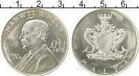 Изображение Монеты Мальта 1 фунт 1972 Серебро UNC- Мануэль Димех