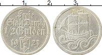 Продать Монеты Данциг 1/2 гульдена 1923 Серебро