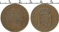 Изображение Монеты Италия Парма 5 сентесим 1830 Медь VF