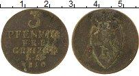 Изображение Монеты Германия Гессен-Кассель 3 пфеннига 1810 Медь VF