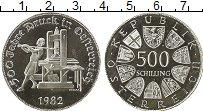 Изображение Монеты Австрия 500 шиллингов 1982 Серебро Proof-