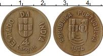 Продать Монеты Португальская Индия 4 таньга 1934 Медно-никель