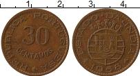 Продать Монеты Португальская Индия 30 сентаво 1958 Медь