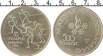 Изображение Монеты Венгрия 500 форинтов 1984 Серебро UNC- Олимпийские игры, лы