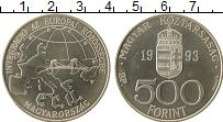 Изображение Монеты Венгрия 500 форинтов 1993 Серебро UNC- Интеграция в ЕС