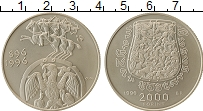 Изображение Монеты Венгрия 2000 форинтов 1996 Серебро UNC- 1100-летие венгерско