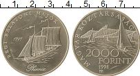 Изображение Монеты Венгрия 2000 форинтов 1998 Серебро UNC-