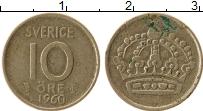 Изображение Монеты Швеция 10 эре 1960 Серебро VF