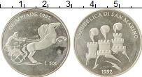 Изображение Монеты Сан-Марино 500 лир 1992 Серебро Proof- Олимпиада- 1992