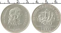 Изображение Монеты Сан-Марино 1000 лир 1978 Серебро UNC- Лев Николаевич Толст