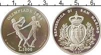 Изображение Монеты Сан-Марино 1000 лир 1995 Серебро Proof- Олимпийские игры