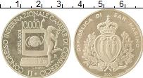 Изображение Монеты Сан-Марино 10000 лир 2001 Серебро Proof- Международный  Конгр