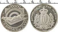 Изображение Монеты Сан-Марино 10000 лир 1999 Серебро Proof-