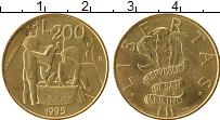 Изображение Монеты Сан-Марино 200 лир 1995 Латунь UNC-