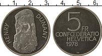 Изображение Монеты Швейцария 5 франков 1978 Медно-никель UNC- 150 лет со дня рожде