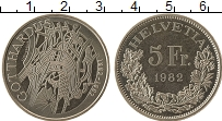 Изображение Монеты Швейцария 5 франков 1982 Медно-никель UNC-
