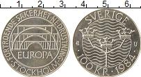 Изображение Монеты Швеция 100 крон 1984 Серебро UNC- Европа