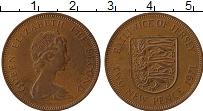 Изображение Монеты Остров Джерси 2 пенса 1971 Бронза XF Елизавета II