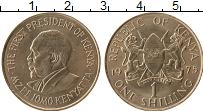 Изображение Монеты Кения 1 шиллинг 1975 Медно-никель UNC- Мзее Йомо Кеньятта