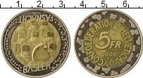 Изображение Монеты Швейцария 5 франков 2000 Биметалл UNC Карнавал  перед  Вел