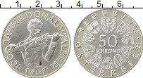 Изображение Монеты Австрия 50 шиллингов 1967 Серебро UNC- 100 лет вальса Голуб