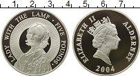 Изображение Монеты Олдерни 5 фунтов 2004 Серебро Proof- Елизавета II