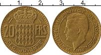 Изображение Монеты Монако 20 франков 1950 Латунь XF Принц Рене III