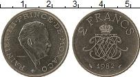 Продать Монеты Монако 2 франка 1982 Никель