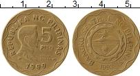 Изображение Монеты Филиппины 5 писо 1993 Латунь XF Эмилио Агинальдо